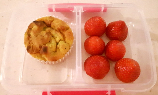 Strawberries & carrot muffin