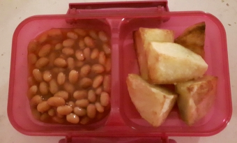 Baked beans & roast potatoes