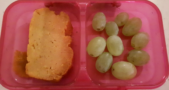 Sweet potato bread and grapes