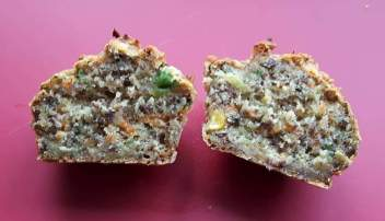 Mixed vegetable muffins