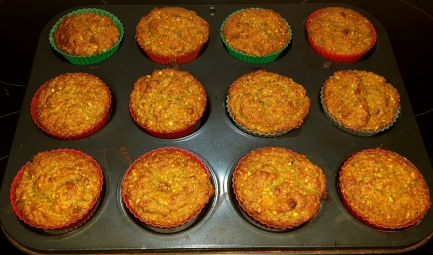 Vegetable and Avocado muffins